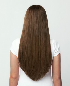 Çıt Çıt Saç 8 Parça Karamel Rengi Gerçek Saç