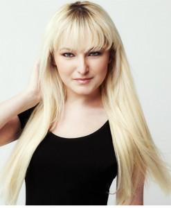 Çıt Çıt Saç 8 Parça Platin Sarı Gerçek Saç