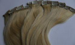 Sarı Renk Çıt Çıt Saç 8 Parça 100% Gerçek Saç.