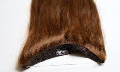 Çikolata Karamel Misinalı Yarım Ay Çıt Çıt Saç %100 Gerçek Saç