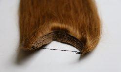 Çikolata Açık Karamel Misinalı Yarım Ay Çıt Çıt Saç %100 Gerçek Saç