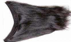 Çikolata Siyah Misinalı Yarım Ay Çıt Çıt Saç %100 Gerçek Saç
