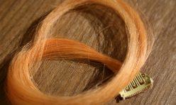 Turuncu Renkli Çıt Çıt Saç %100 Gerçek Saç