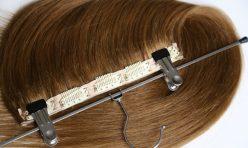 Karamel Yarım Ay Çıt Çıt Saç %100 Gerçek Saç