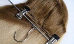 Karamel Ombreli Yarım Ay Çıt Çıt Saç %100 Gerçek Saç